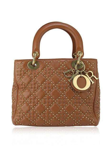 Bolsa Christian Dior Lady Dior Supple Studded
