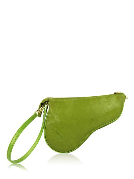 Bolsa Christian Dior Mini Saddle Verde