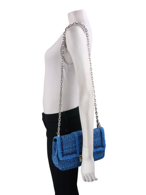 Bolsa Christian Dior Miss Dior Tweed Azul