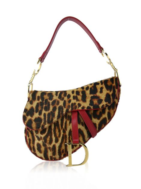 Bolsa Christian Dior Saddle Leopard