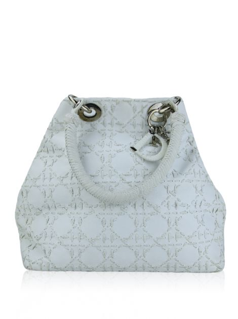 Bolsa Christian Dior Soft Lady Dior Stiched Branca
