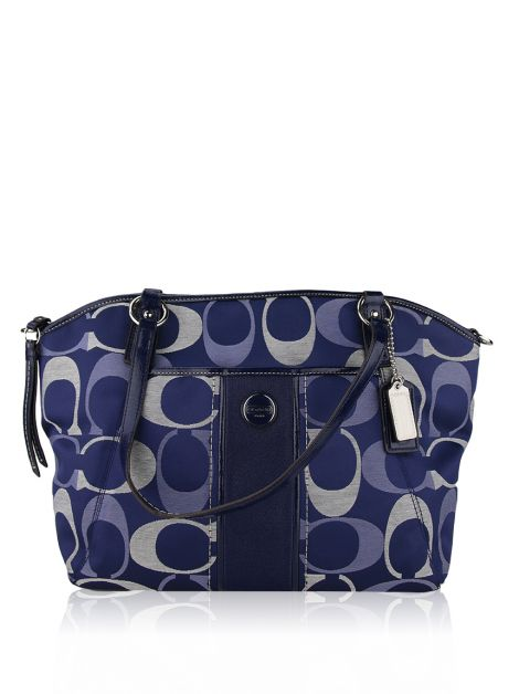 Bolsa Coach Signature StripE Pocket Monograma