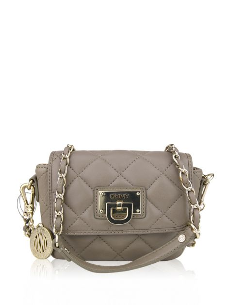 Bolsa DKNY Gansevoort Quilted Nappa Small Flap Etoupe