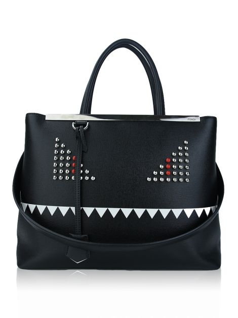 Bolsa Fendi 2 Jours Monster Preta