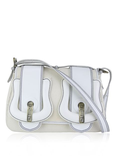 Bolsa Fendi B Bag Off White