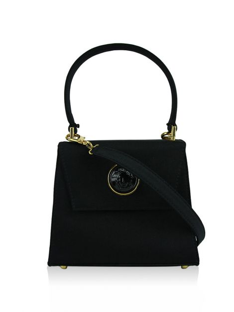 Bolsa Gianni Versace Cetim Preta