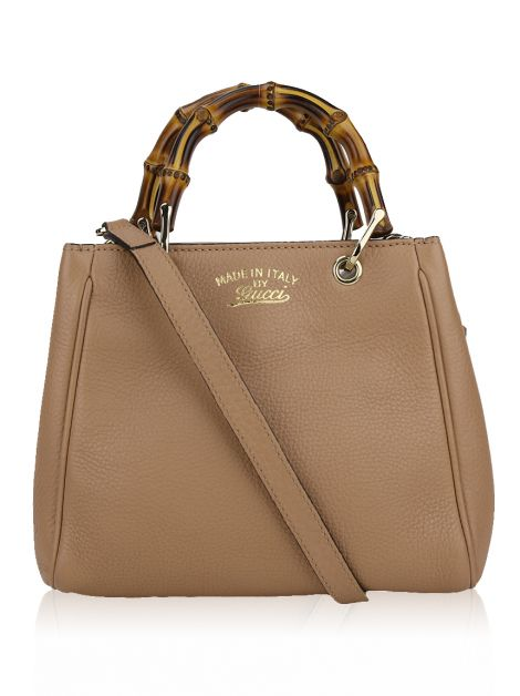 Bolsa Gucci Bamboo Shopper Mini Nude