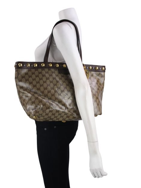 Bolsa Gucci Crystal Tote GG Canvas