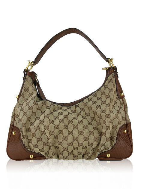 Bolsa Gucci GG Canvas Medium Jockey Hobo