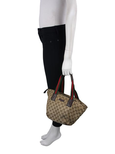 Bolsa Gucci Web Small GG Canvas