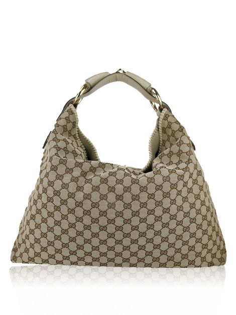 Bolsa Gucci Hobo Horsebit Jacquard GG Canvas
