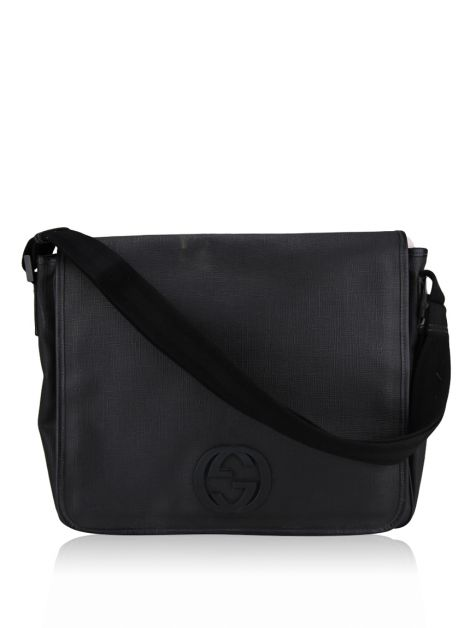 Bolsa Gucci Interlocking G Messenger Preta