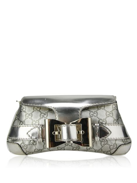 Bolsa Gucci Queen Gold Bow Buckle Leather Couro Dourada