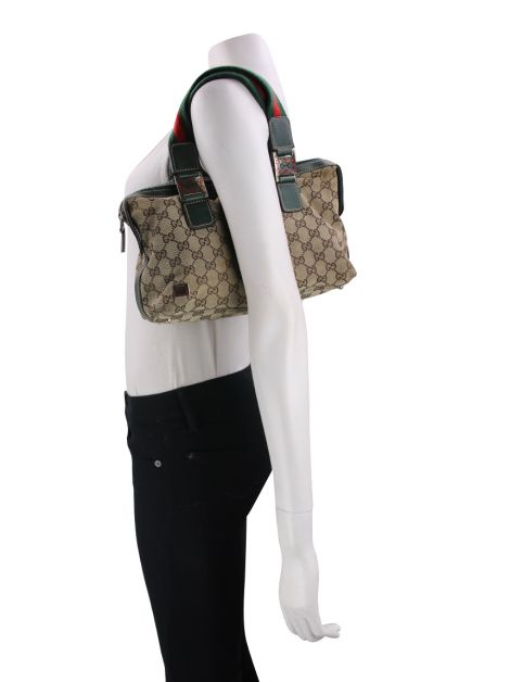 Bolsa Gucci Small Web Handle GG