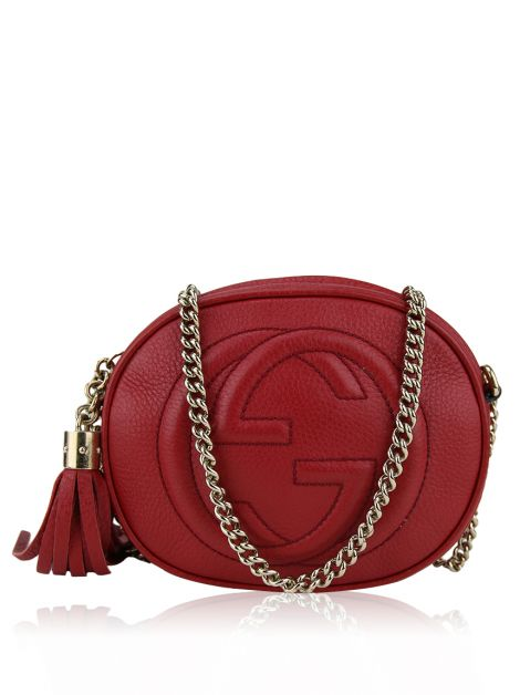 Bolsa Gucci Soho Mini Chain Vermelha