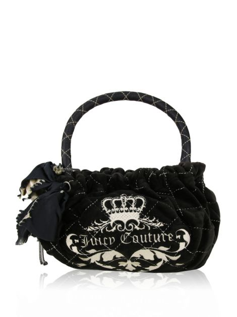 Bolsa Juicy Couture Veludo Café