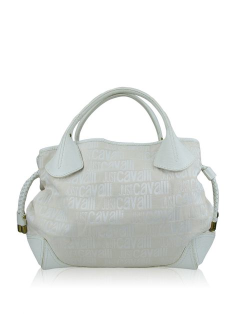 Bolsa Just Cavalli Tecido Off White