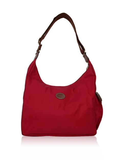 Bolsa Longchamp Le Pliage Hobo Garance Red