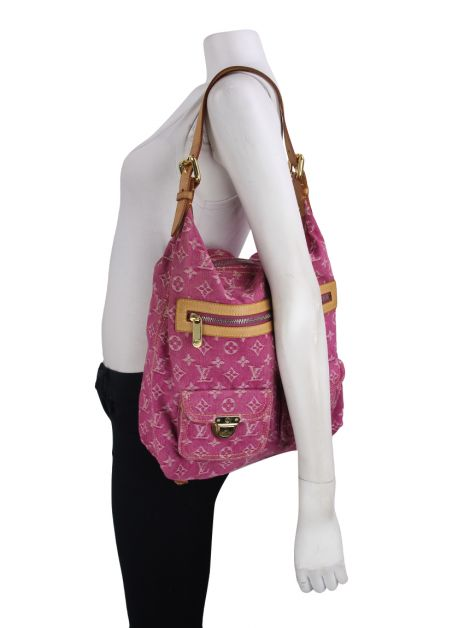 Bolsa Louis Vuitton Baggy Monogram Fucsia Denim