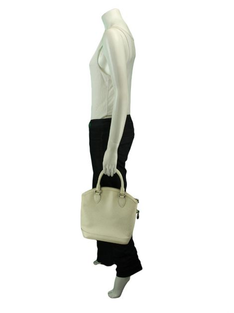 Bolsa Louis Vuitton Epi Leather Lockit Branco