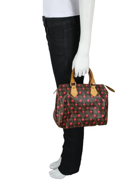 Bolsa Louis Vuitton Limited Edition Cerise Speedy 25 Monograma