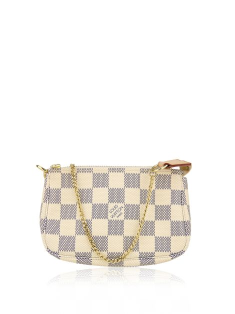 Bolsa Louis Vuitton Mini Pochette Damier Azur