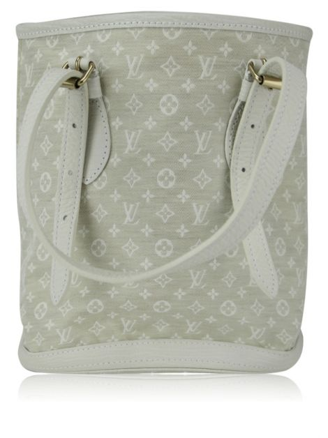 Bolsa Louis Vuitton Monogram Mini Lin Bucket Off White