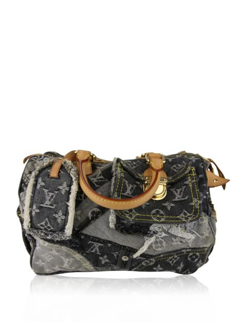 Bolsa Louis Vuitton Patchwork Denim Speedy Monograma