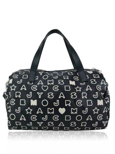 Bolsa Marc By Marc Jacobs Canvas Preta Estampada