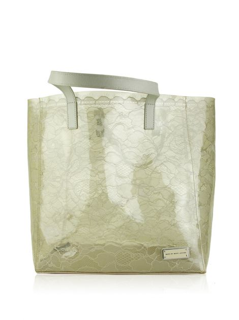 Bolsa Marc by Marc Jacobs Cinza Transparente