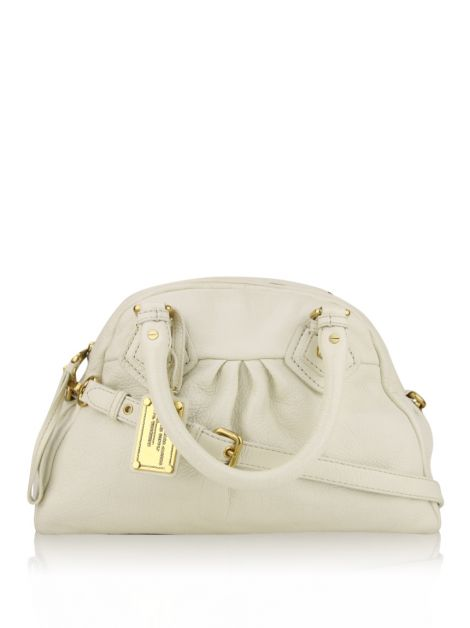 Bolsa Marc by Marc Jacobs Classic Groove Couro Off-White