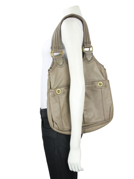 Bolsa Marc By Marc Jacobs Couro Etoupe