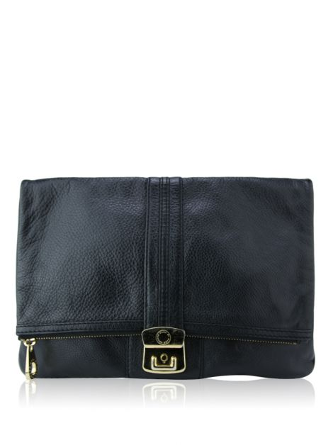 Clutch Marc By Marc Jacobs Couro Liso Preto