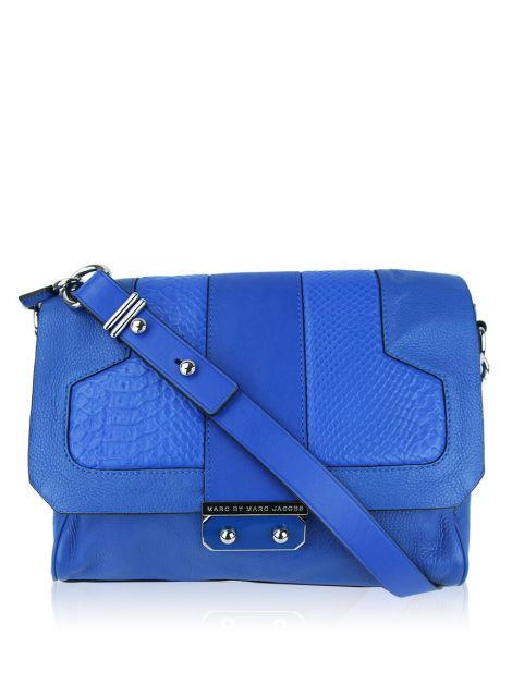 Bolsa Marc by Marc Jacobs Croco Azul