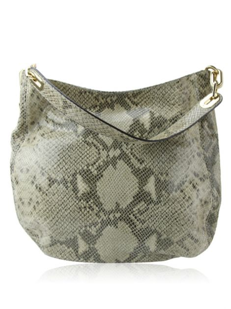 Bolsa Michael Kors Fulton Python Print Heather Hobo Bag