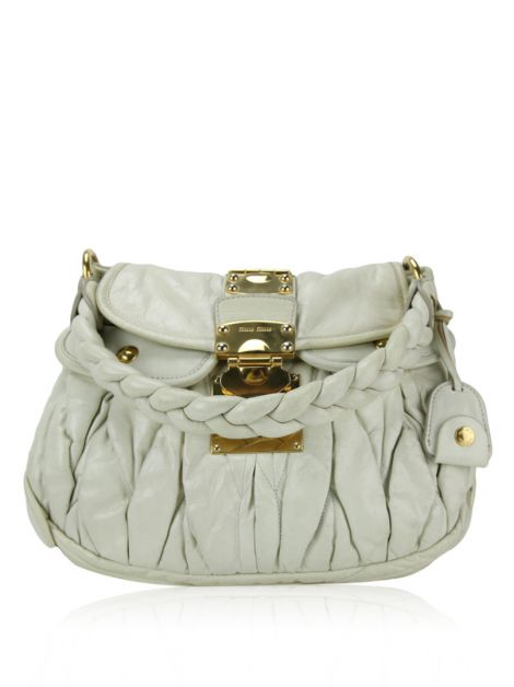 Bolsa Miu Miu Coffer Off-White