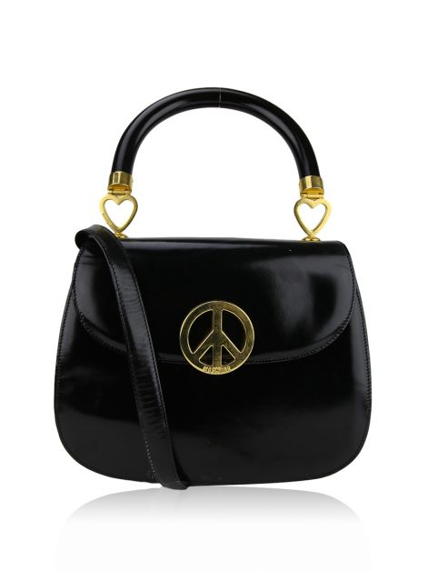 Bolsa Moschino Peace And Love Preta
