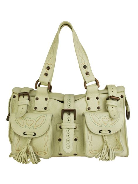 Bolsa Mulberry Off-White Pespontos
