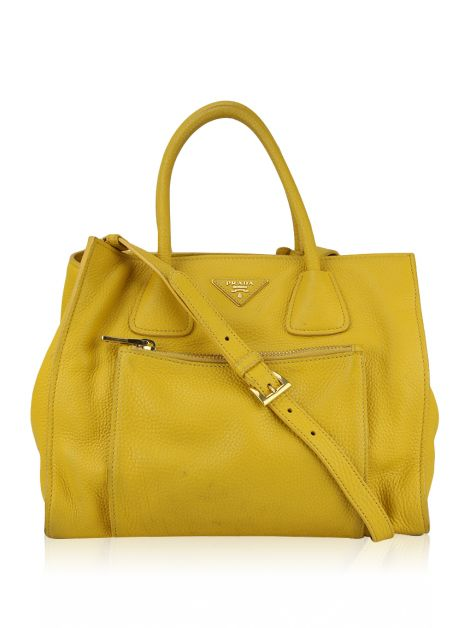 Bolsa Prada Double Handle Tote Mimosa