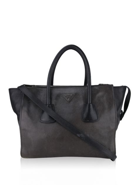 Bolsa Prada Twin Pocket Double Etoupe