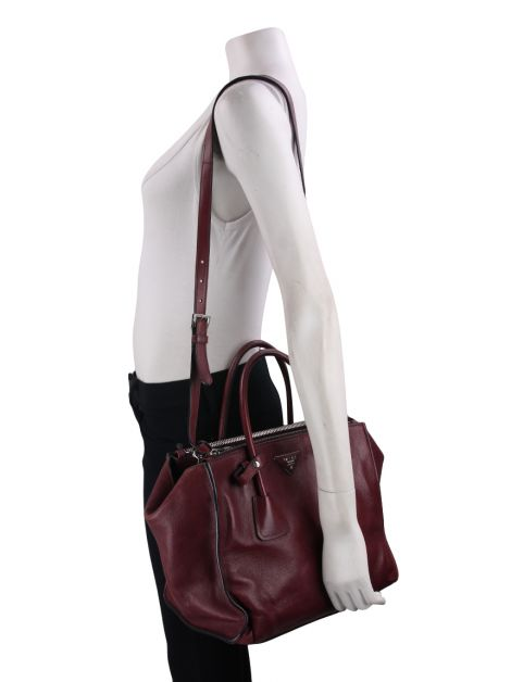 Bolsa Prada Twin Pocket Double Vinho