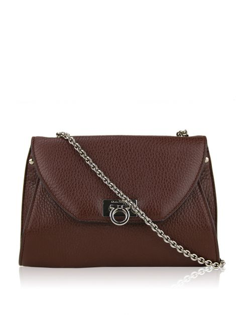 Bolsa Salvatore Ferragamo Envelope Crossbody Marrom