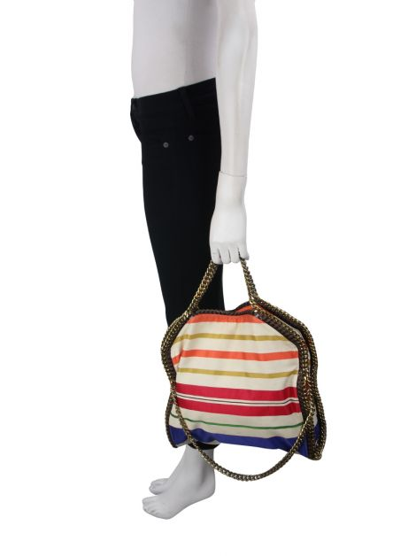 Bolsa Stella McCartney Falabella Striped Colorida