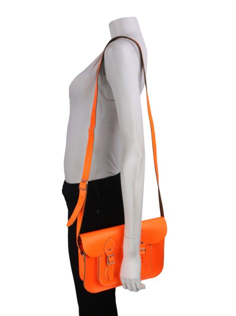 Bolsa The Cambridge Satchel Batchel Laranja Fluorescente