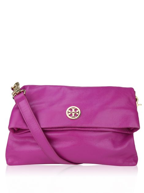 Bolsa Tory Burch Fold Over Fúcsia