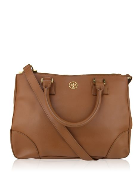 Bolsa Tory Burch Robinson East West Luggage Caramelo