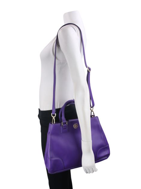 Bolsa Tory Burch Robinson East West Luggage Roxo