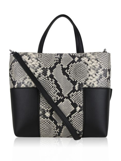 Bolsa Tory Burch T Block-T Embossed Mini Preta