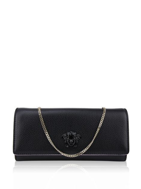Clutch Versace Couro Preto