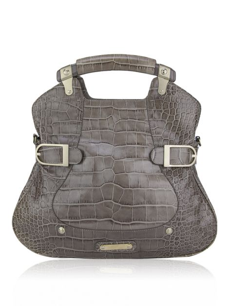Bolsa Versace Croco Etoupe